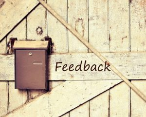 Feedback helps us