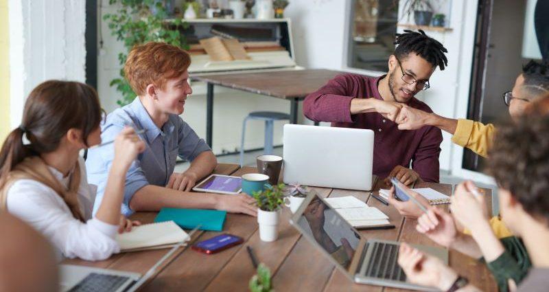 Team office meeting